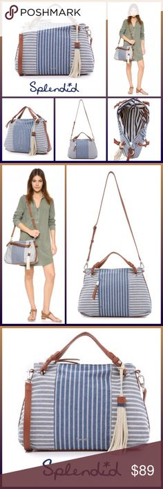 """JUST IN 🆕 'MONTEREY' SATCHEL/TOTE A soft tote, styled with herringbone stripes and a pleated bottom. Pebbled faux-leather trim accents the sides, and the top zip opens to a lined, 3-pocket interior Adjustable double handles and optional, adjustable shoulder strap ▪️Herringbone canvas ▪️Suede Tassel Charm ▪️11""""H x 14.25""""L x 5""""D ▪️Strap drop: 15"""" ▪️Handle drop: 5""""  🛍BUNDLE=SAVE  🚫TRADE  💯Brand Authentic  ✈️Ship Same Day  🖲USE OFFER BUTTON TO NEGOTIATE   ✔️Ask Questions Not Answered In…"""