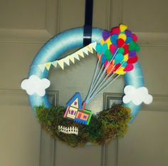 "This wreath was for my son's first birthday. The theme was ""Up"""