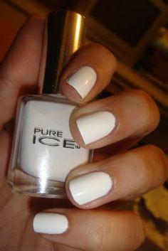 Pure Ice nail polish in Super Star!  I love a good white polish.