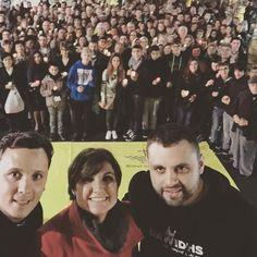 Macro selfie en Plaza de España tras la actuación para abrir el año de la Misericordia.