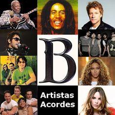 Acordes D Canciones: B (Lista de Artistas con Acordes)