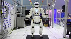 "Valkyrie: NASA's Superhero Robot. Valkyrie (officially designated ""R5"" by NASA) is a 1.9 meter tall, 125 kilogram, 44 degree of freedom, battery-powered humanoid robot."