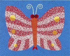 yayoi+kusama | Yayoi Kusama, A BUTTERFLY ACHNO Yayoi Kusama, Trippy Patterns, Pop Art, 8th Grade Art, Dot Day, Ecole Art, Simple Acrylic Paintings, Butterfly Art, Butterflies