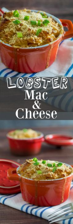 Repin to save recipe for later! Sharp parmesan and cheddar, mellow Gruyère, and tender, sweet lobster make the perfect combination in Baked Lobster Mac and Cheese. Perfect for the holidays or even an indulgent evening on your own, this is definitely the grown-up version of mac and cheese. It's creamy, buttery comfort food at its best!
