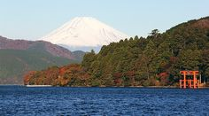 CHUBU-MOUNT FUJI: Hakone: A small region near Mt. Fuji that has hot spring resorts, outdoor art exhibitions, shrines, museums, botanical gardens, a caldera lake with views of Mt. Fuji, outlet malls, historical sites, and a scenic mountain railway.
