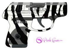 Pink Gun -  Ruger LCP .380 semi-automatic pistol zebra decoration concept at http://www.PinkGun.com
