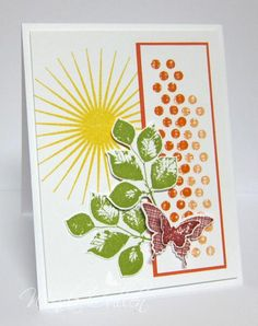 Kinda Eclectic by cullenwr - Cards and Paper Crafts at Splitcoaststampers.  (Pin#1: Nature: Sunshine...  Pin+: Nature: Foliage).