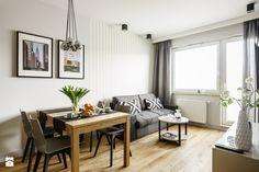 Apartament nowojorski – Aviator – Gdańsk - Salon, styl nowoczesny - zdjęcie od Anna Serafin Architektura Wnętrz Entryway Bench, Small Spaces, Sweet Home, Gallery Wall, Room Decor, Living Room, House, Furniture, Anna