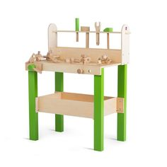 The Lumberjack Wooden Workbench is perfect for budding DIY enthusiasts. A traditional wooden workbench, it comes with all the tools that little build. Wooden Play Kitchen, Wooden Dollhouse, Outdoor Furniture, Outdoor Decor, Plum, Things To Come, Indoor, Traditional, Diy