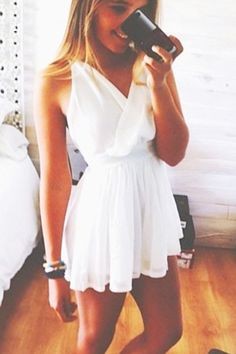 Cute Dress! Add a cardigan over top when it gets chilly out.