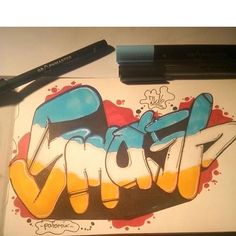 Nice 'Smash' sketch by @_patomix_ who's only been painting since may this year. Thank you for using #graphmastermarker.