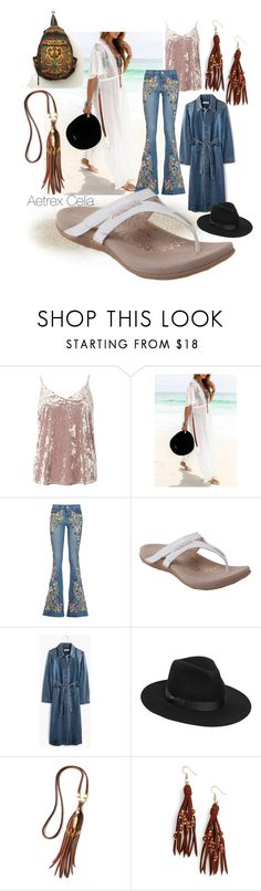 """good feet dreams flip flops - a summer must"" by caroline-buster-brown ❤ liked on Polyvore featuring Dorothy Perkins, Alice + Olivia, Aetrex, Madewell, Lack of Color, Panacea and comfysummershoes"