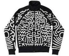 Adidas x Jeremy Scott x Keith Haring Tracksuit Top Tomboy Fashion, 90s Fashion, Vintage Fashion, Fashion Menswear, Fall Fashion, Vintage Style, Keith Haring Shirt, Jeremy Scott Adidas, Casual Art