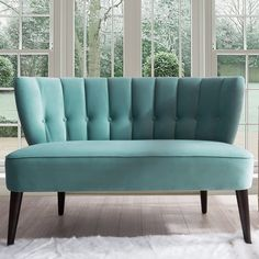 Jennifer Taylor Home Becca Channel and Button Tufted Settee, Arctic Blue Jennifer Taylor, Living Spaces, Living Room, Best Sofa, Furniture Making, Blue Furniture, Furniture Decor, Tufting Buttons, Settee