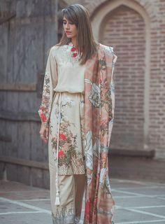 Cross Stitch Khaddar and Linen Collection 2017 Pakistani Fashion Party Wear, Pakistani Formal Dresses, Pakistani Couture, Pakistani Dress Design, Pakistani Outfits, Pakistani Frocks, Pakistani Actress, Indian Dresses, Stylish Dresses For Girls