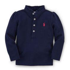 Ruffled Cotton Polo - Baby Girl Polo Shirts - RalphLauren.com