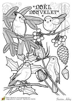 Dessin à colorier d'un chant de Noël, Nouvelet - Hugolescargot.com