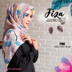 [TERMURAH SHOPEE] Segiempat Fiza Square by Quail Hijab | Shopee Indonesia