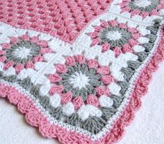 <b>Baby</b> <b>crochet</b> <b>blanket</b>- 6 petal <b>crochet</b> flower <b>baby</b> <b>blanket</b> patterns