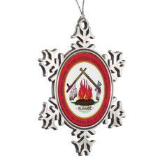 Citizen Potawatomi Nation Snowflake Pewter Christmas Ornament