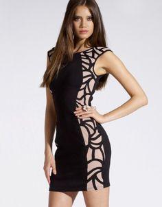 Lipsy Side Cornelli Bodycon Dress