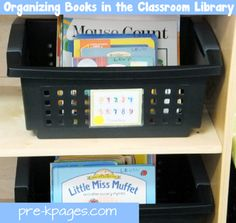 How to organize books in a pre-k #preschool or #kindergarten classroom library via www.pre-kpages.com