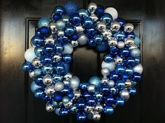Wreath made from inexpensive Christmas ornaments! #DIY #holidays #craft