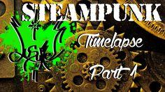 SteamPunk Top Hat & Skull Mask (Timelapse Part 1)
