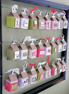 DIY Advent calendar May Arts ribbon +Authentique papers