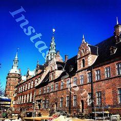 andjpg #Frederiksborg #Castle, #old #danish castle #here #with #blue #sky #and #summer #sensations