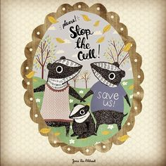 Stop The Badger Cull Illustration