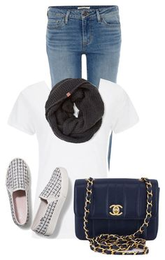 """""""Untitled #20645"""" by nanette-253 ❤ liked on Polyvore featuring Levi's, Superdry, Keds and Chanel"""
