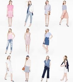 Nice colors J.Crew // LOOKS WE LOVE: New outfits for spring—including shots of pink, denim and more.