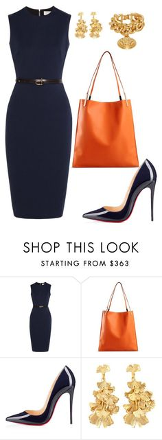 """helia's style theory"" by heliaamado on Polyvore featuring Victoria Beckham, Christian Louboutin, Aurélie Bidermann and Versace"