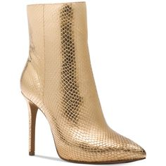 3bcd8ca3271 Michael Michael Kors Leona Metallic Booties ( 225) ❤ liked on Polyvore  featuring shoes