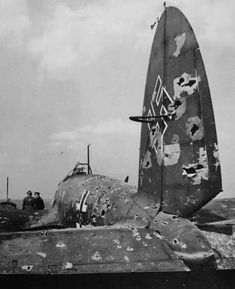 Battle of Britain - Heinkel 111, August 1940.  Though criticised for lack of firepower compared to the cannon armed Bf 109, the Hurricane / Spitfire could still do an extraordinary amount of damage with 8 x .303 machine guns.