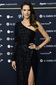 Alessandra Ambrosio attends the 'Dyson' premiere at the 13th Zurich Film Festival.