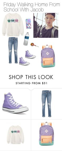 """Friday Walking Home From School With Jacob Sartorius"" by jacobsartoriusisbae-1 ❤ liked on Polyvore featuring Converse, rag & bone, WithChic and Herschel Supply Co."