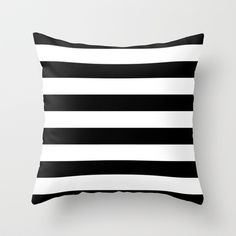 Buy Stripe Black & White Horizontal by Beautiful Homes as a high quality Throw Pillow. Worldwide shipping available at Society6.com. Just one of millions…