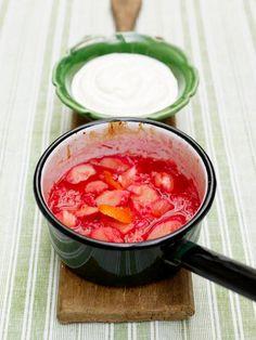 stewed rhubarb & vanilla yoghurt | Jamie Oliver | Food | Jamie Oliver (UK)