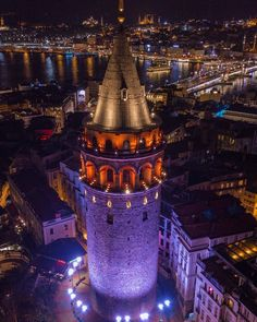 Istanbul Galata Tower at night Hotel Secrets, Visit Turkey, Permanent Vacation, Istanbul City, Hagia Sophia, Turkey Travel, Best Places To Travel, Drone Photography, Travel Photography