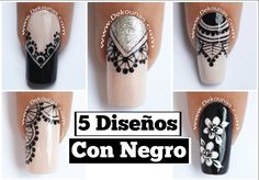 46 Best Ideas For Manicure Mandalas Sencillas Glitter French Manicure, French Manicure Designs, Gel Manicure, Nail Polishes, Accent Nail Designs, Nail Art Designs, Paris Nails, Mandala Nails, Gothic Nails