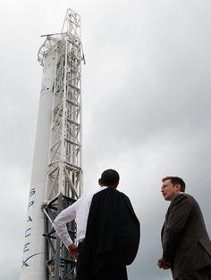 President Obama & Elon Musk spaceX