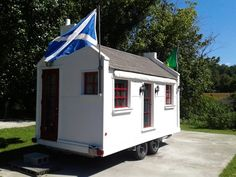Scottish Cottage built on 16' Trailer. Originally set up as a mobile kitchen but designed for quick conversion to a Dwelling or other multi use applications such as: Guest Cottage, Cottage on Land, Ticket Booth, Concession Stand, Office, Valet Booth...etc.