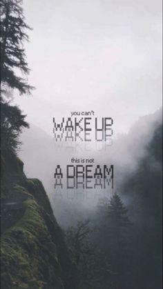 Você não pode acordar  Não é um sonho.