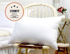 Biele vzdušné vankúše 60x70 cm Duvet, Bed Pillows, Pillow Cases, Home, Down Comforter, Pillows, Ad Home, Homes, Haus