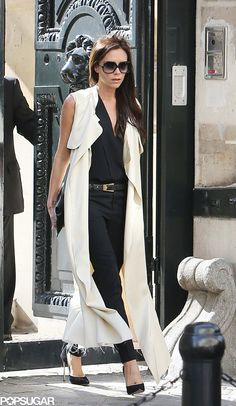 Victoria Beckham in Paris looking, well, posh.