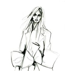 Graphite on polypropylene paper by Lara Wolf #fashion #illustration