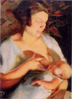 Renato Guttuso Maternità, 1927, olio tela, Lecce-Museo Prov.le