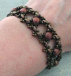 Linda's Crafty Inspirations: Ivy Bracelet Variation & Tara Earrings - Chocolate & Berry